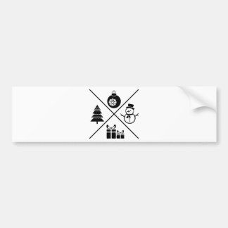 X-MAS Chrsitmas Card Bumper Sticker