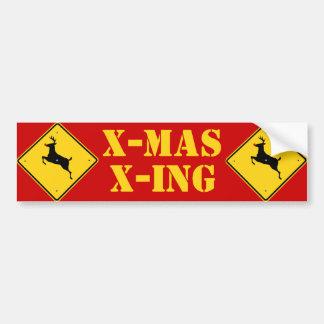X-mas X-ing Bumper Sticker