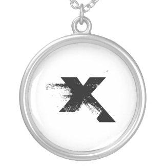 X Names Round Pendant Necklace