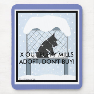 X OUT PUPPY MILLS MOUSE PAD