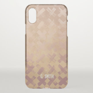 X Pattern. Add your Name. iPhone X Case