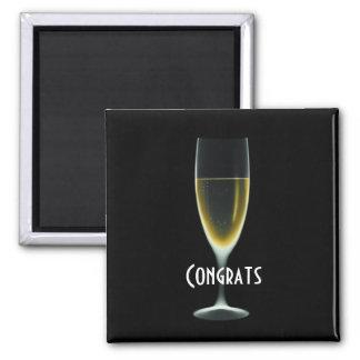 X-RAY CELEBRATION CHAMPAGNE Original Congrats Square Magnet