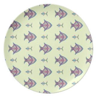 X-ray fish on lemon yellow plate