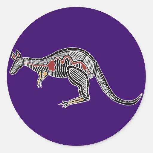 X-Ray Kangaroo Round Sticker