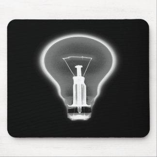 X-RAY LIGHT BULB BLACK & WHITE MOUSE PADS