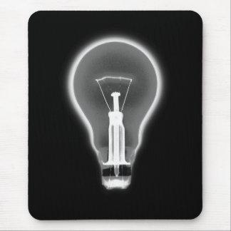 X-RAY LIGHT BULB BLACK & WHITE MOUSE PAD