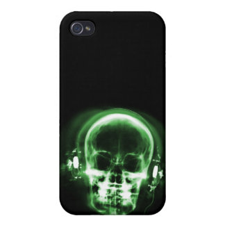 X-RAY MUSIC SKELETON BLACK & GREEN CASES FOR iPhone 4