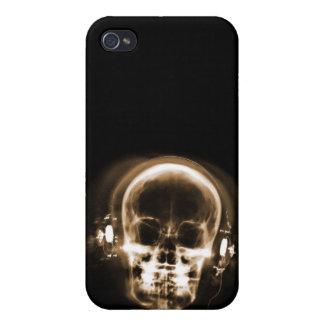 X-RAY MUSIC SKELETON BLACK & ORANGE iPhone 4/4S CASE