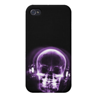 X-RAY MUSIC SKELETON BLACK & PURPLE CASES FOR iPhone 4