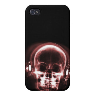 X-RAY MUSIC SKELETON BLACK & RED CASE FOR iPhone 4
