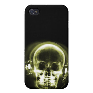 X-RAY MUSIC SKELETON BLACK & YELLOW iPhone 4/4S COVER