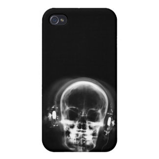 X-RAY MUSIC SKELETON GREY BLACK & WHITE COVERS FOR iPhone 4