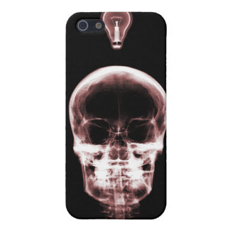 X-RAY SKELETON BRIGHT IDEA - RED iPhone 5/5S COVERS