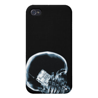 X-RAY SKELETON ON - BLUE COVERS FOR iPhone 4
