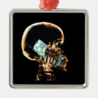 X-RAY SKELETON ON CELL PHONE METAL ORNAMENT