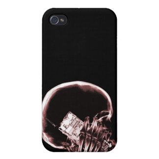 X-RAY SKELETON ON - RED CASE FOR iPhone 4
