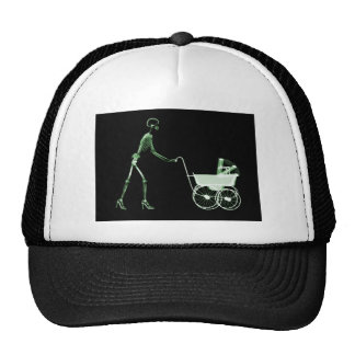X-RAY SKELETON WOMAN CARRIAGE - GREEN CAP