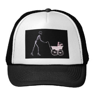 X-RAY SKELETON WOMAN CARRIAGE - PINK CAP