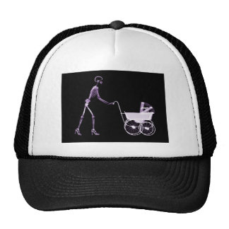X-RAY SKELETON WOMAN CARRIAGE - PURPLE CAP