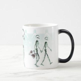 X-Ray Skeletons Afternoon Stroll on White Magic Mug