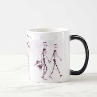 X-Ray Skeletons Afternoon Stroll Pink Magic Mug