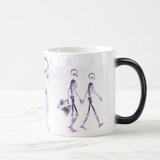 X-Ray Skeletons Afternoon Stroll Purple Magic Mug