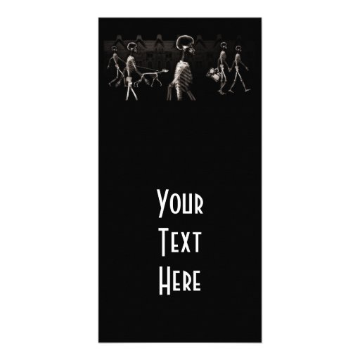 X-Ray Skeletons Midnight Stroll Black Sepia