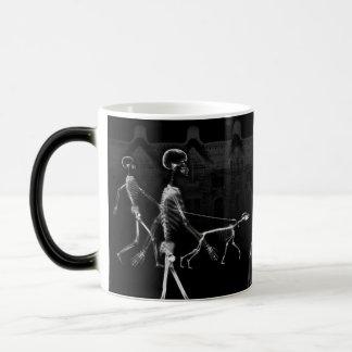 X-Ray Skeletons Midnight Stroll Black White Magic Mug