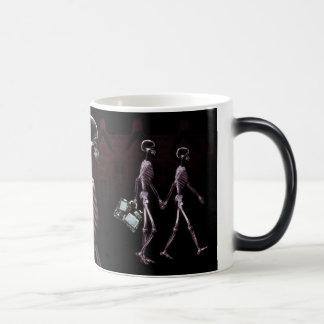 X-Ray Skeletons Midnight Stroll Coffee / Beer Mugs
