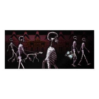 "X-Ray Skeletons Midnight Stroll Invites 4"" X 9.25"" Invitation Card"