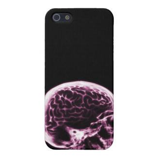 X-RAY SKULL BRAIN - BLACK & PINK CASE FOR THE iPhone 5