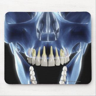 X-ray style look at human teeth mouse pad