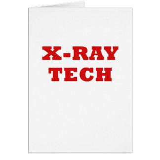 X-Ray Tech Card