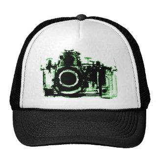 X-RAY VISION CAMERA BLACK GREEN HATS