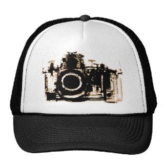 X-RAY VISION CAMERA BLACK SEPIA TRUCKER HAT
