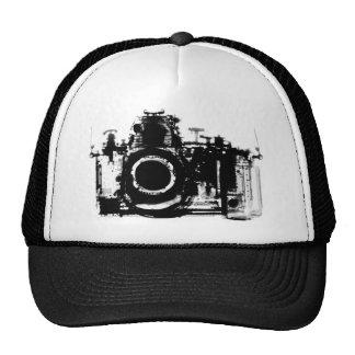 X-RAY VISION CAMERA BLACK WHITE TRUCKER HAT