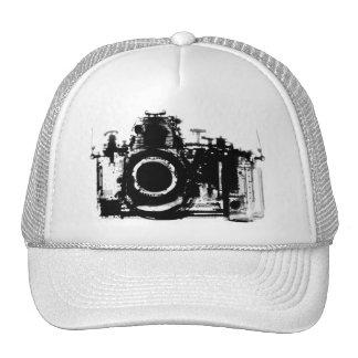 X-RAY VISION CAMERA - BLACK WHITE MESH HAT