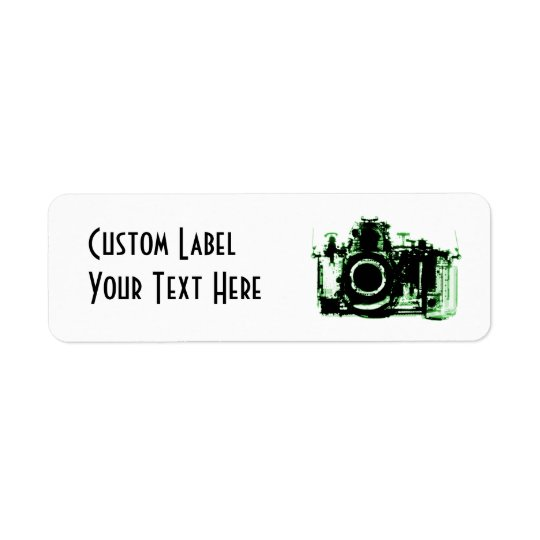 X-RAY VISION CAMERA - GREEN RETURN ADDRESS LABEL