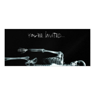 "X-Ray Vision Single Skeleton Invites 4"" X 9.25"" Invitation Card"