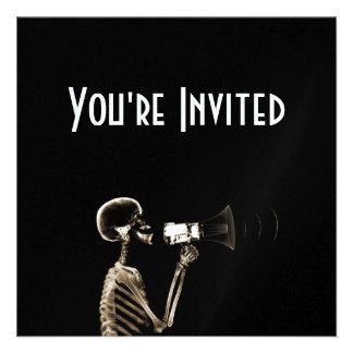 X-RAY VISION SKELETON ON MEGAPHONE - SEPIA INVITE