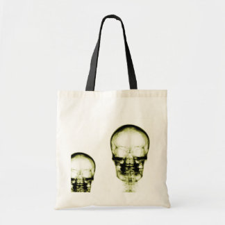 X-RAY VISION SKELETON SKULL - YELLOW TOTE BAGS