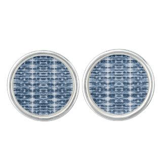 X-Ray Watercolor Shibori Stripe Cuff Links
