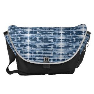 X-Ray Watercolor Shibori Stripe Messenger Bag