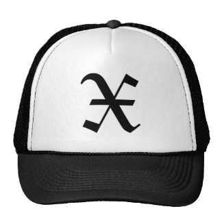 X-text Old English Hats