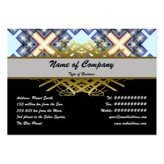 X Waves Big Large Business Cards (Pack Of 100)