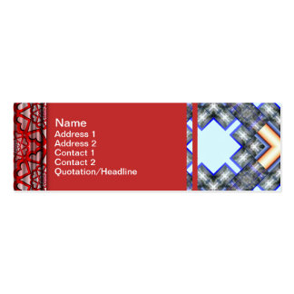 X Waves Big Double-Sided Mini Business Cards (Pack Of 20)