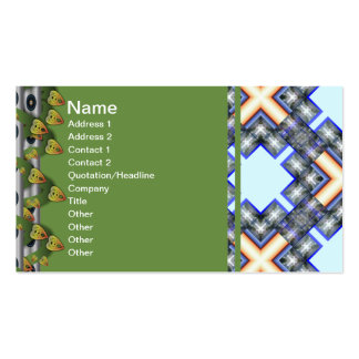 X Waves Big Double-Sided Standard Business Cards (Pack Of 100)