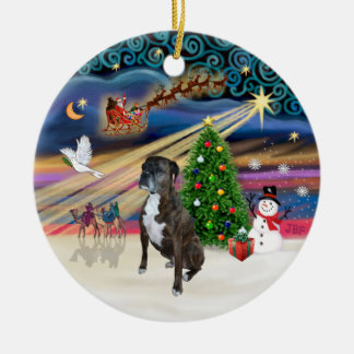 Xams Magic - Boxer (brindle 2) Ceramic Ornament