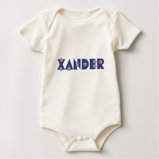 Xander in Soccer Blue Baby Bodysuit
