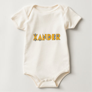 Xander in Soccer Gold Baby Bodysuit